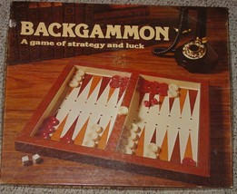 BACKGAMMON GAME OF STRATEGY & LUCK 1977 LOWE COMPLETE EXCELLENT CONDITION - $25.00