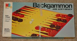 BACKGAMMON & ACEY DEUCY GAME 1977 MILTON BRADLEY VINTAGE COMPLETE UNUSED - $15.00