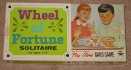 WHEEL OF FORTUNE SOLITAIRE PLAY ALONE CARD GAME 1965 EDU CARDS  COMPLETE - $25.00