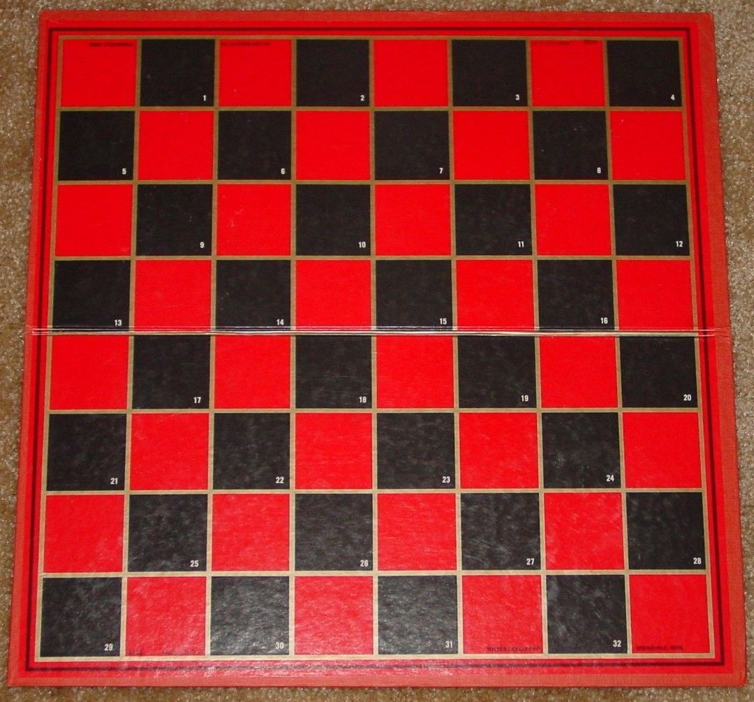 "CHESS CHECKERS & ACEY DEUCY BACKGAMMON GAME 3 1/8"" KING SIZE 1970 MILTON BRADLE"