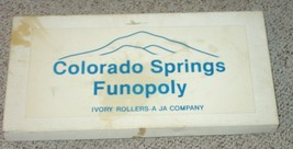 COLORADO SPRINGS COLORADO FUNOPOLY GAME MONOPOLY STYLE COMPLETE - $30.00
