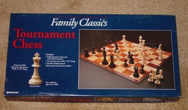 "CHESS FAMILY CLASSICS TOURNAMENT CHESS GAME 3 5/8"" SOLID STAUNTON CHESSM... - $20.00"