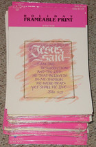 12 CALLIGRAPHY Poster Print Cards JESUS SAID JOHN 11:25 FRAMEABLE HALLMA... - $3.00