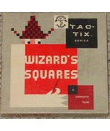 WIZARDS SQUARES MATHEMATIC BRAIN TEASER 1967 PACIFIC GAME COMPLETE EXCEL... - $35.00