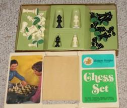 "CHESS SET GAME GALLANT KNIGHT STAUNTON DESIGN CHESSMEN 3""  COMPLETE EXCE... - $35.00"