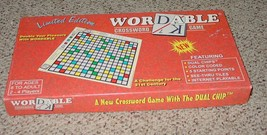 WORDABLE CROSSWORD GAME LIMITED EDITION 1995 WORDABLE GAMES COMPLETE EXC... - $30.00