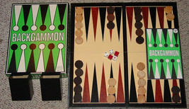 BACKGAMMON GAME REISS GAMES 1975 WOOD CHIPS EXCELLENT COMPLETE - $20.00