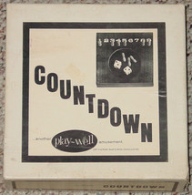 COUNTDOWN PEG GAME VINTAGE #800 PLAYWELL EXCELLENT CONDITION COMPLETE - $30.00