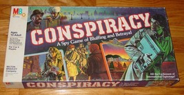 CONSPIRACY SPY GAME OF BLUFFING & BETRAYAL 1982 MILTON BRADLEY COMPLETE ... - $25.00