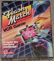 Flash Match Vcr Game Vintage Mattel 1986 Complete Excellent - $20.00