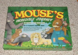 MOUSES INCREDIBLE JOURNEY AUTUMN HOUSE BOARD GAME MADE IN ENGLAND COMPLETE - $35.00