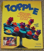 Topple Game 1992 Pressman Waddingtons Games Complete Excellent Condition - $20.00