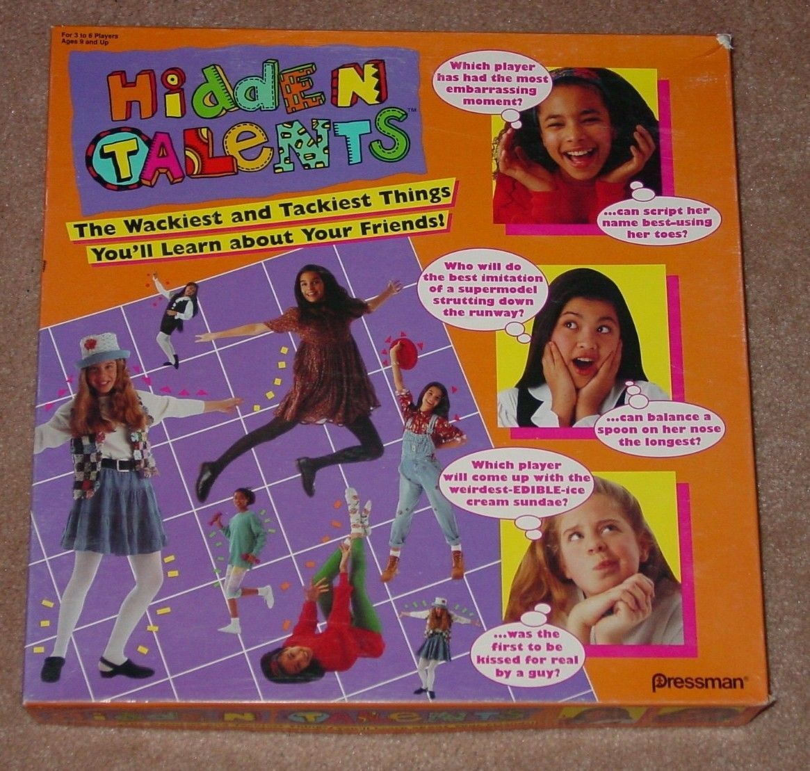 Primary image for HIDDEN TALENTS GAME GIRLS SLEEPOVER PARTY GAME 1994 PRESSMAN COMPLETE EXCELLENT
