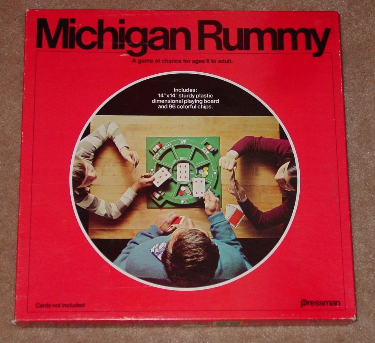 Primary image for MICHIGAN RUMMY CARD GAME 1977 PRESSMAN COMPLETE FACTORY SEALED CHIPS UNUSED GAME