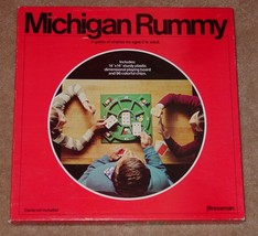 MICHIGAN RUMMY CARD GAME 1977 PRESSMAN COMPLETE FACTORY SEALED CHIPS UNU... - $25.00