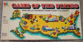 GAME OF THE STATES GAME MILTON BRADLEY 1979 COMPLETE EXCELLENT - $30.00
