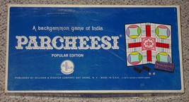 PARCHEESI POPULAR EDITION BACKGAMMON GAME INDIA 1967 SELCHOW & RIGHTER  ... - $20.00