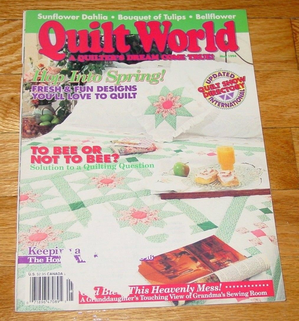 CRAFT BOOK QUILT WORLD CRAFT MAGAZINE MAY 1994 UNUSED