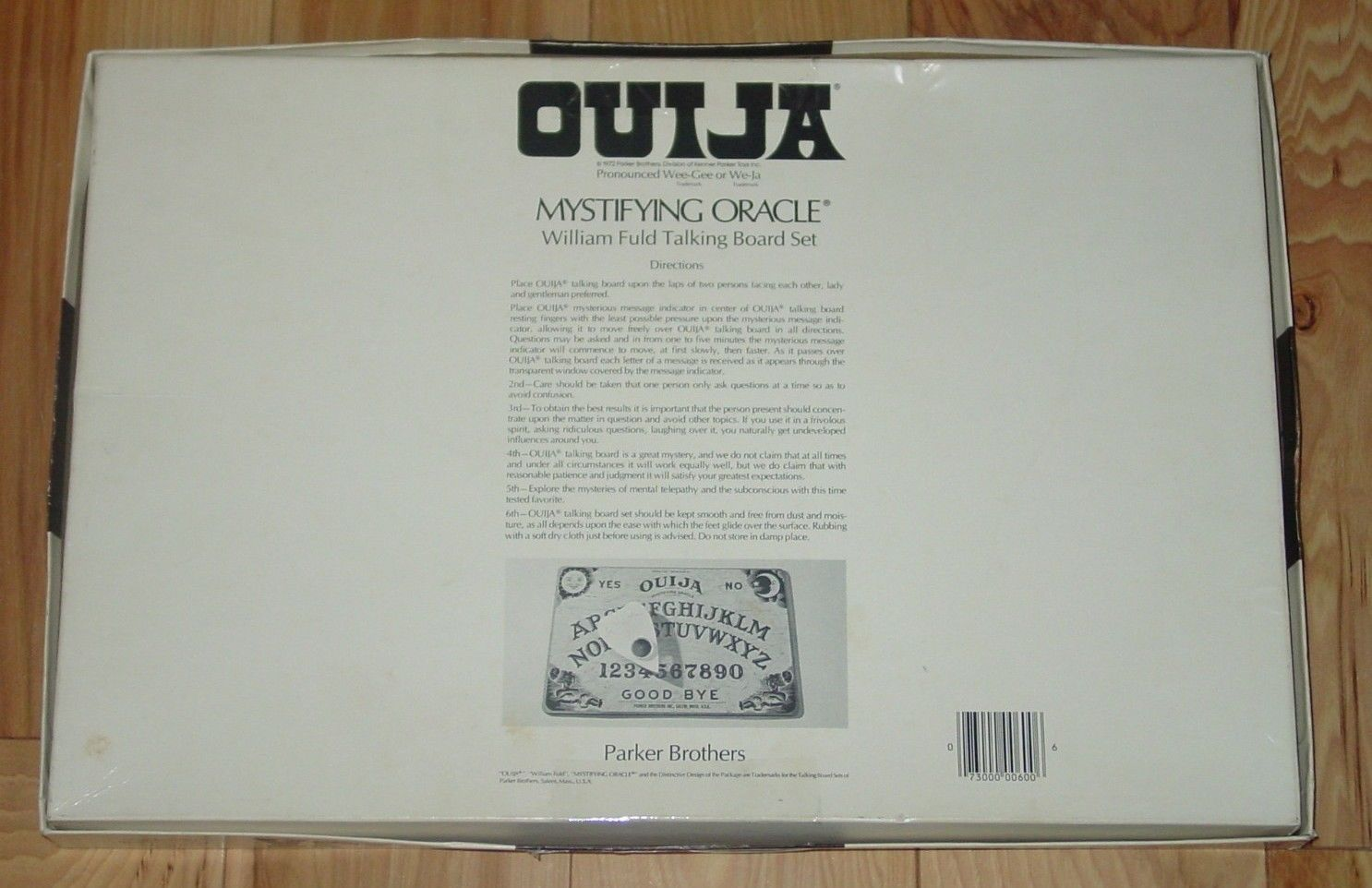 OUIJA MYSTIFYING ORACLE WILLIAM FULD BOARD SET 1972 PARKER BROTHERS COMPLETE image 2