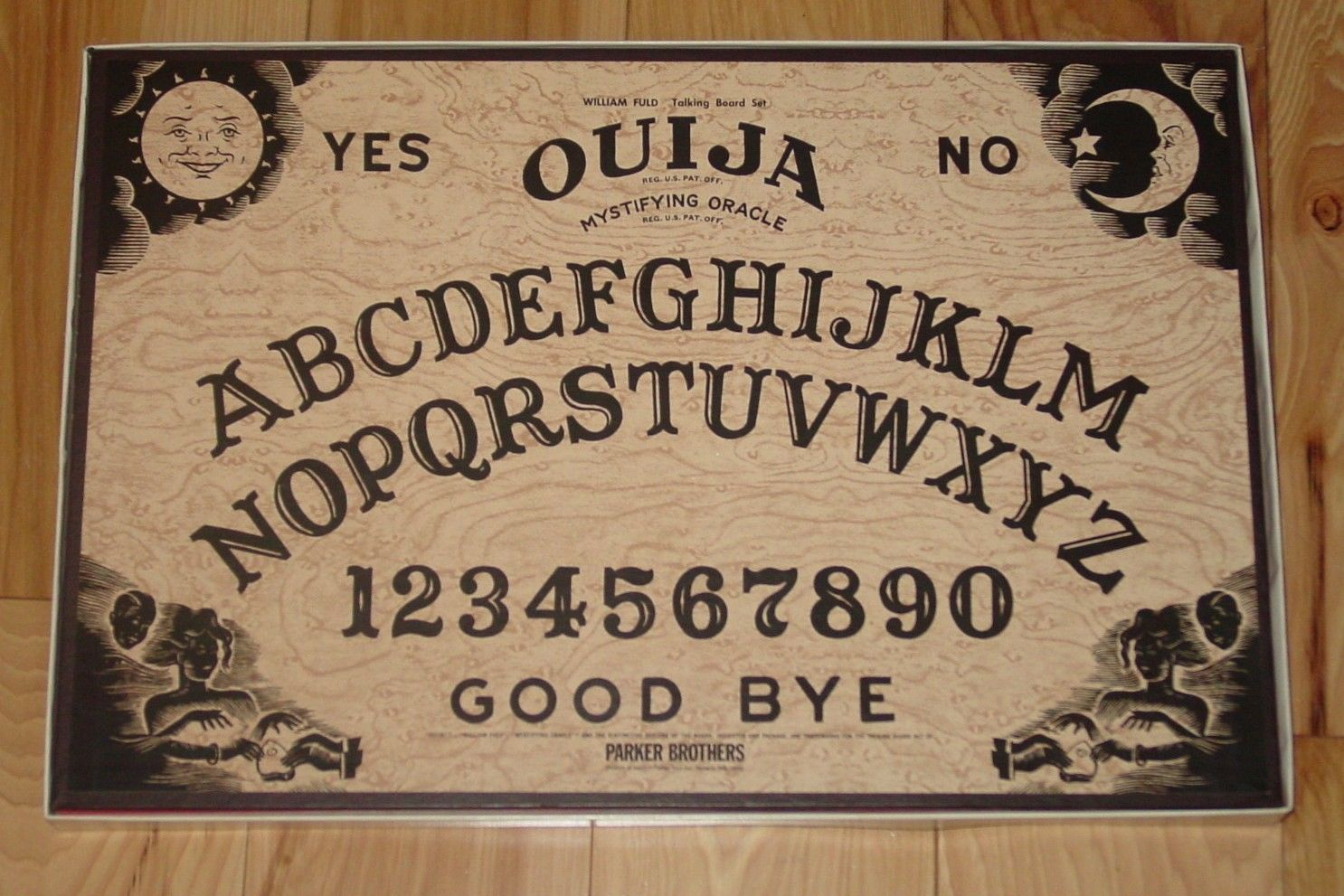 OUIJA MYSTIFYING ORACLE WILLIAM FULD BOARD SET 1972 PARKER BROTHERS COMPLETE image 3
