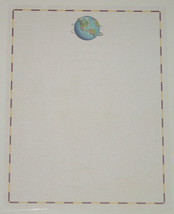 LETTERHEAD COMPUTER STATIONARY WORLD MOUSE DESI... - $8.00