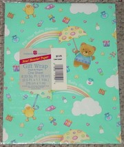 Gift Wrap For Your Baby Shower American Greetings 1 Sheet 8.33 Sq Ft Sealed New - $2.00