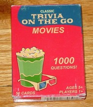 CARDS CLASSIC TRIVIA ON THE GO MOVIES CARD GAME 2005 FUNDEX GAMES COMPLE... - $5.00