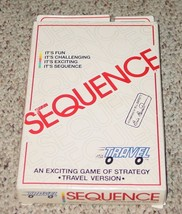 Sequence Strategy Travel Version Game 1994 Jax No 8005 Complete Excellent - $10.00