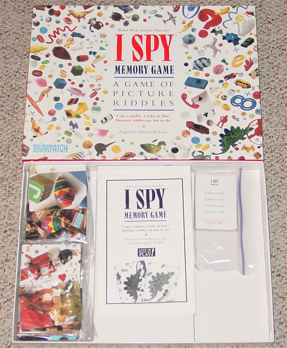 Primary image for I SPY MEMORY GAME BRIARPATCH 1995 MATCH PICTURE RIDDLES COMPLETE