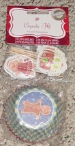 BAKING CUPS 24 STANDARD SIZE 24 PICKS CUPCAKE KIT WILTON 2010 NEW FACTOR... - $2.00