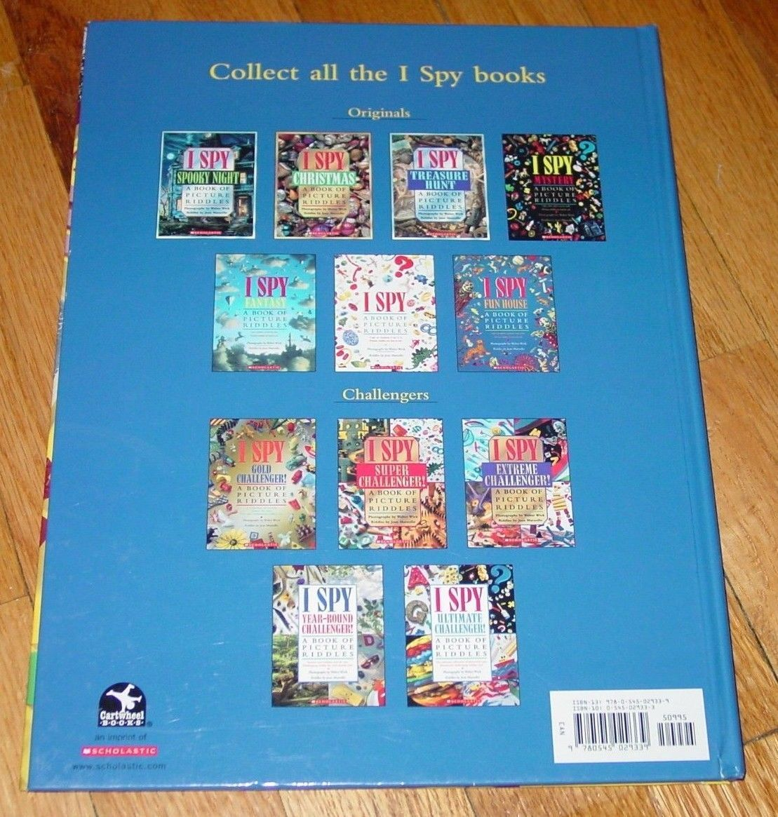 BOOK I SPY SCHOOL DAYS BOOK OF PICTURE RIDDLES 1995 SCHOLASTIC HARDCOVER