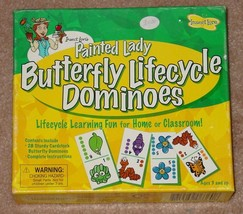 DOMINOES PAINTED LADY BUTTERFLY LIFECYCLE DOMINO COMPLETE LIGHTLY PLAYED - $12.00