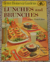 COOKBOOK BETTER HOMES & GARDENS LUNCHES & BRUNCHES COOK BOOK 1963 HC 1ST... - $6.00