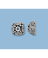 (2) NEW STERLING SILVER  BALI STYLE  BEAD CAPS - $9.29
