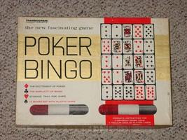 POKER BINGO GAME 1965 TRANSOGRAM COMPLETE - $20.00