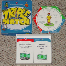 TRIPLE MATCH CARD GAME FINANCIAL FOOTSTEPS  AID ASSOCIATION FOR LUTHERAN... - $10.00