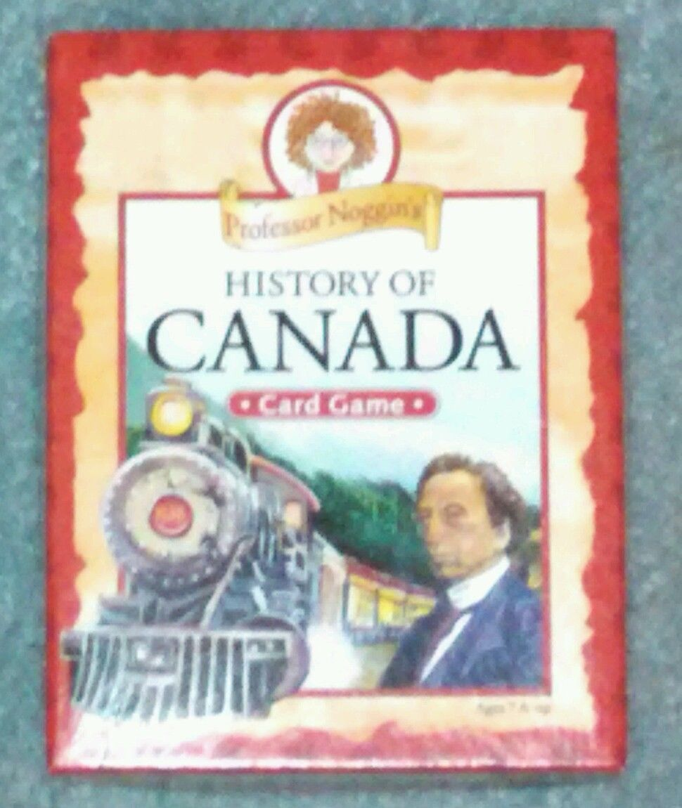 PROFESSOR NOGGINS HISTORY OF CANADA CARD GAME 2011 OUTSET MEDIA COMPLETE