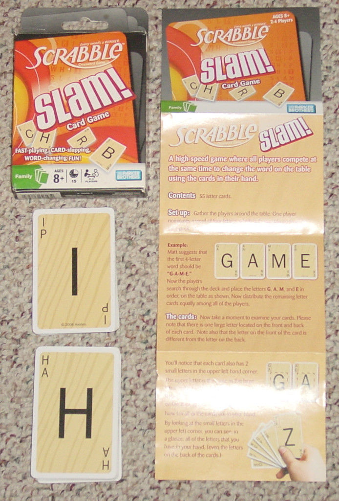 Scrabble Slam Card Game Parker Brothers 2008 And 12 Similar Items