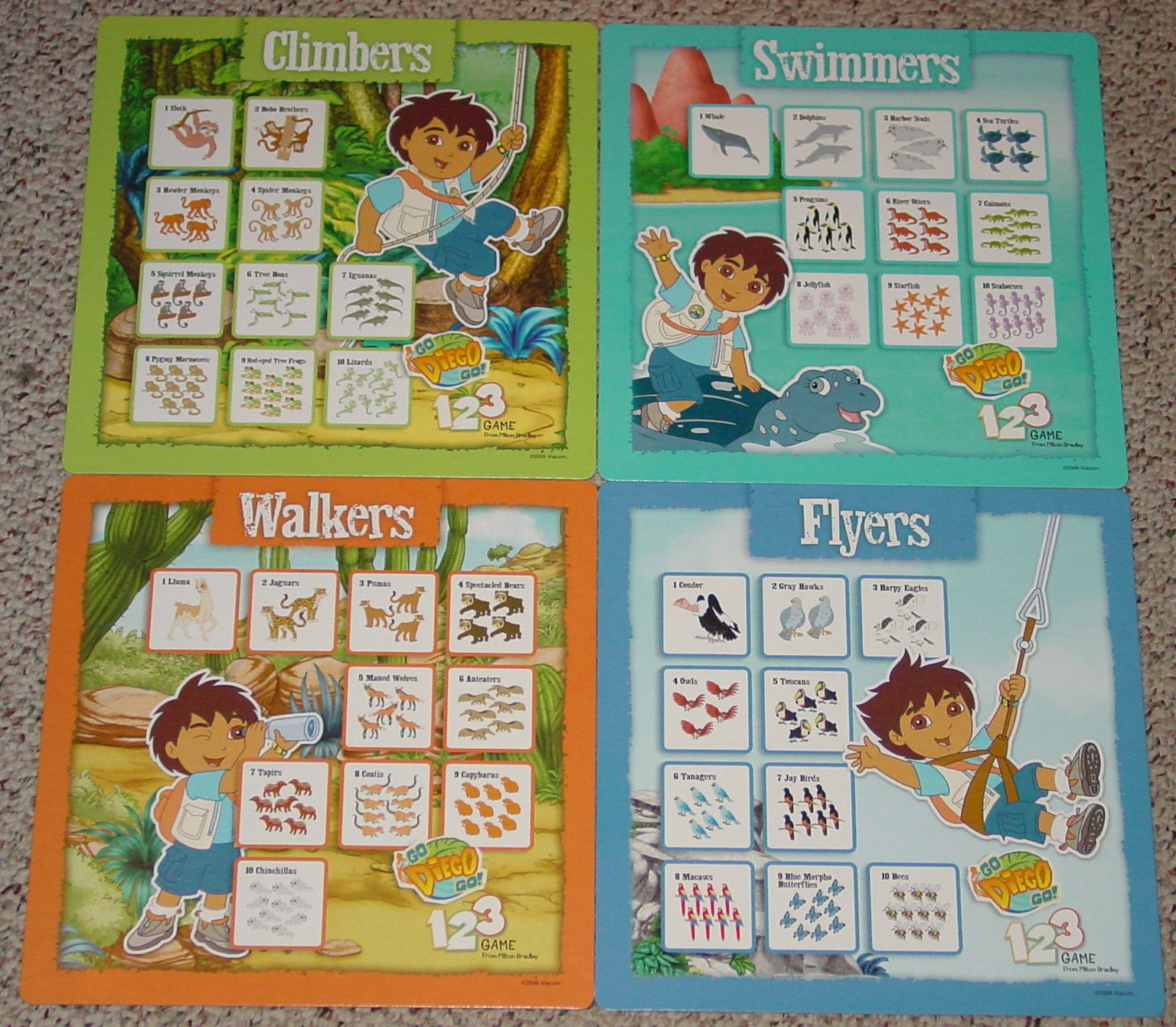 ... NICK JR GO DIEGO GO 123 GAME MILTON BRADLEY PRESCHOOL GAME 2006 COMPLETE