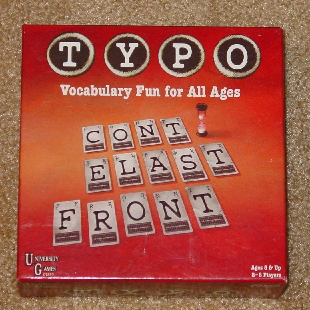 Primary image for TYPO GAME VOCABULARY WORD FUN 2006 UNIVERSTY GAMES COMPLETE EXCELLENT