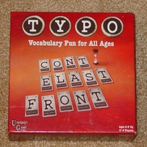 TYPO GAME VOCABULARY WORD FUN 2006 UNIVERSTY GAMES COMPLETE EXCELLENT - $20.00