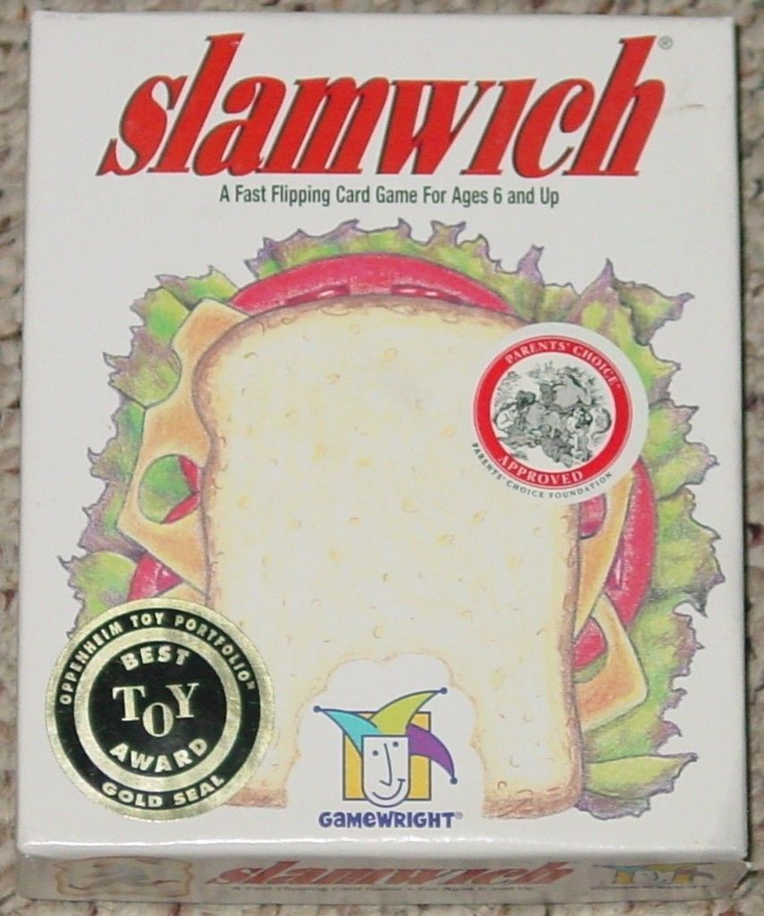 Primary image for SLAMWICH FAST FLIPPING CARD GAME GAMEWRIGHT 2003 OPEN BOX SEALED CARDS COMPLETE