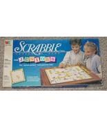 SCRABBLE CROSSWORD GAME FOR JUNIORS 1989 MILTON BRADLEY COMPLETE EXCELLENT - $20.00