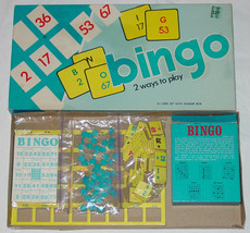 BINGO GAME WARREN PAPER PRODUCTS VINTAGE #716 COMPLETE - $15.00
