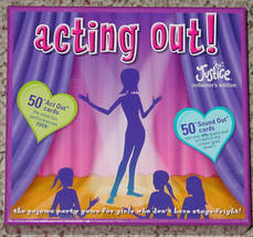 ACTING OUT PAJAMA PARTY GAME GIRLS JUSTICE COLLECTORS EDITION 2010 COMPLETE - $20.00