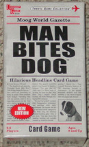 MAN BITES DOG HILARIOUS HEADLINE CARD GAME 2010 MOOG UNIVERSITY GAMES CO... - $15.00