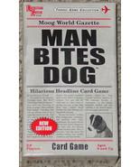 MAN BITES DOG HILARIOUS HEADLINE CARD GAME 2010 MOOG UNIVERSITY GAMES CO... - $15.00