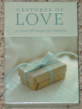GESTURES OF LOVE CARDS 2002 COMPASS LABS SEALED 50 RECIPES FOR ROMANCE - $26.00