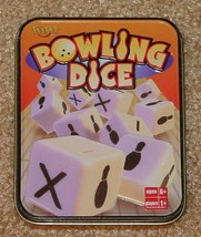 BOWLING DICE GAME TIN 2002 FUNDEX GAMES Complete Excellent - $12.00