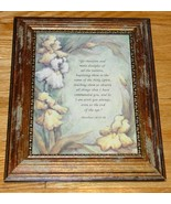FRAMED PRINT MATTHEW 28:19-20 GO THEREFORE AND MAKE DISCIPLES excellent - $4.00